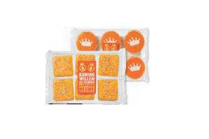 oranje glace koek of fondantcakes