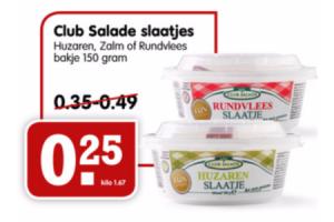 club salade slaatjes