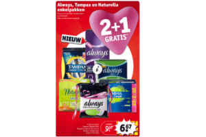 always tampax en naturella enkelpak