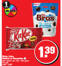 bros lion kitkat of smarties