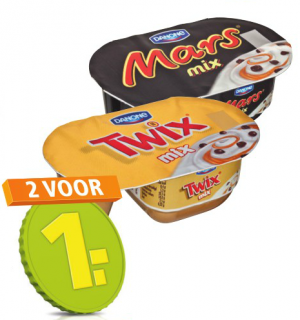danone yoghurt mars of twix