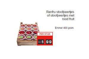 ranfru stoofpeertjes of stoofpeertjes met rood fruit