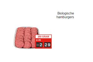 biologische hamburgers