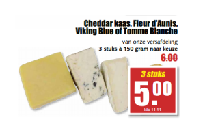 cheddar kaas fleur daunis viking blue of tomme blanche