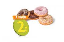 plus gedecoreerde donuts of roomboter suikerwafels
