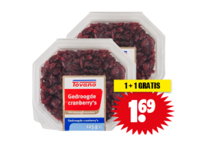 gedroogde cranberrys