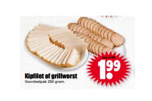 kipfilet of grillworst