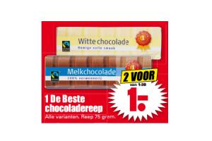 1 de beste chocoladereep