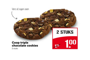 coop triple chocolate cookies