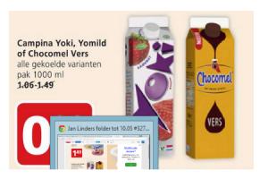 campina yoki yomild of chocomel vers