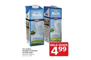 jan linders houdbare halfvolle of volle melk