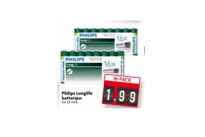 philips longlife batterijen