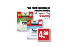 page vochtig toiletpapier navulverpakking
