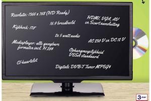 led tv 18.5 plus dvd  en mediaspeler