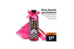 rose douche geschenkset