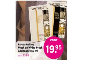 alyssa ashley musk en white musk cadeauset 50 ml