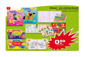kleur  en stickerboek