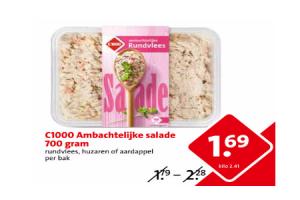 c1000 ambachtelijke salade 700 gram