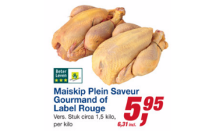maiskip plein saveur gourman of label rouge
