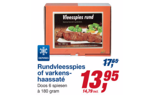 rundvleesspies of varkenshaassate