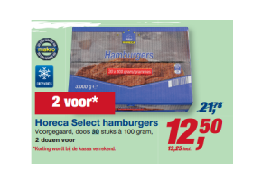 horeca select hamburgers