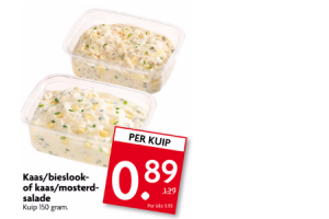 kaasbieslook of kaasmosterd salade