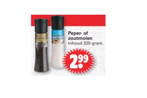 peper  of zoutmolen