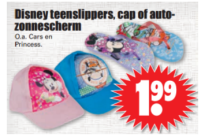 disney teenslippers cap of auto  zonnescherm