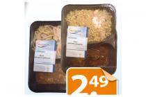 versuniek bami kip satesaus of nasi babi pangang