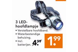 3 led hoofdlampje
