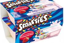 smarties yoghurt aardbei
