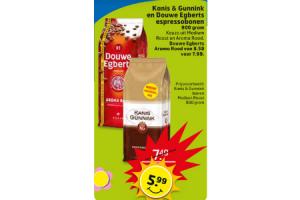 kanis  gunnink en douwe egberts espressobonen