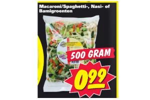 macaronispaghetti  nasi  of bamigroenten