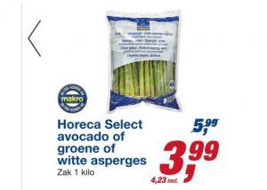 horeca select avocado of groene of witte asperges