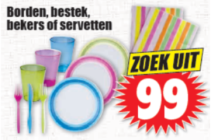 borden bestek bekers of servetten