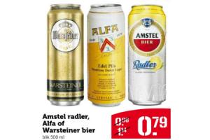 amstel radler alfa of warsteiner bier