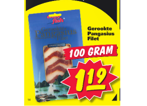 gerookte pangasius filet