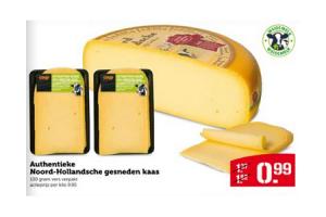 authentieke noord hollandsche gesneden kaas