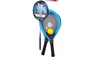 grote soft tennisset of badmintonset