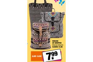 rugzak of shopper