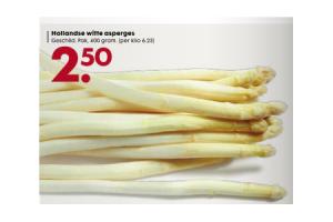 hollandse witte asperges