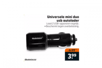 universele mini duo usb autolader