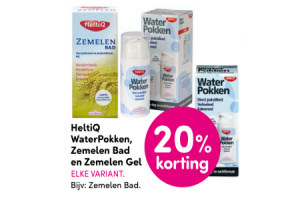 heltiq waterpokken zemelen bad en zemelen gel
