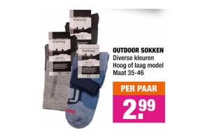 outdoor sokken