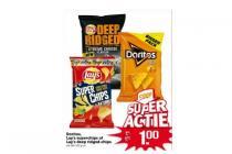 doritos lays superchips of lays deep ridges chips
