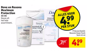 dove en rexona maximum protection