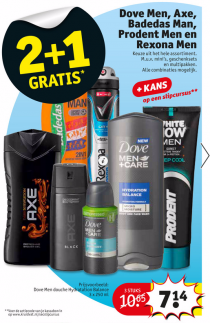 dove men axe badedas man prodent men en rexona men