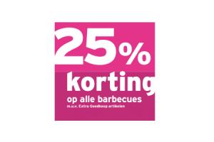 25 korting op alle barbecues