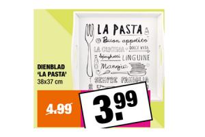 dienblad la pasta