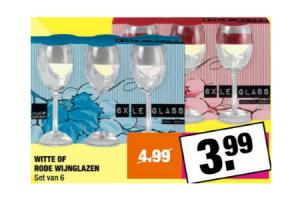 witte of rode wijnglazen